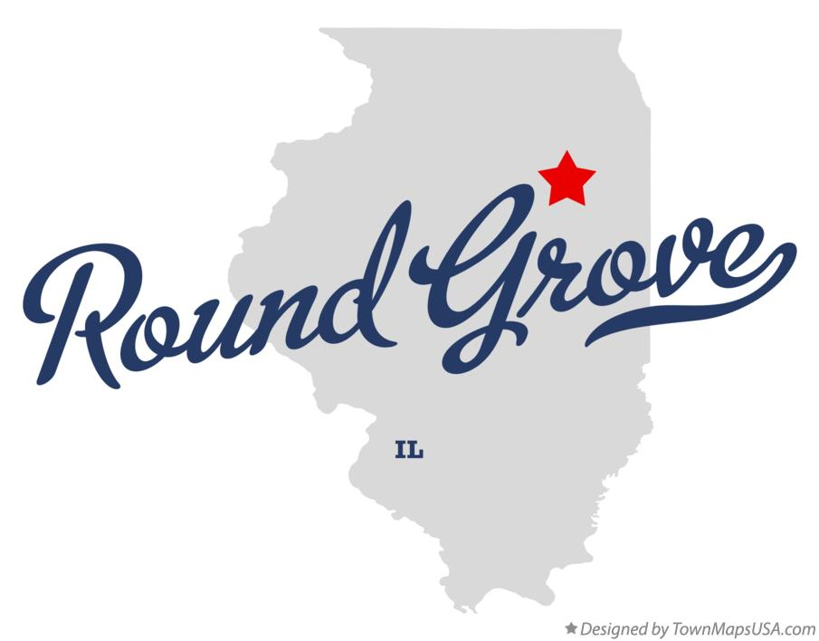 Map of Round Grove Illinois IL