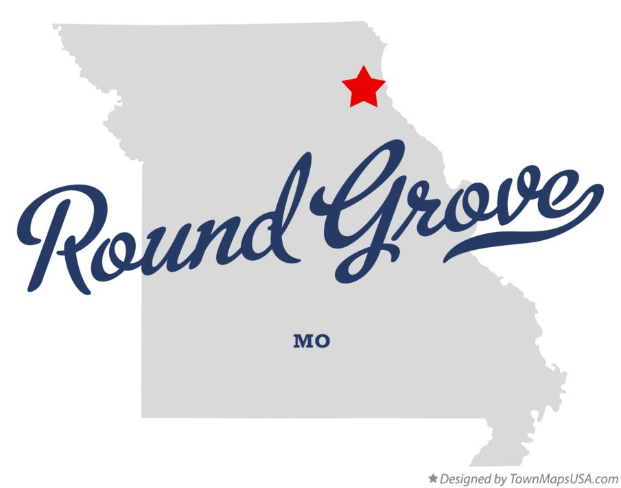 Map of Round Grove Missouri MO