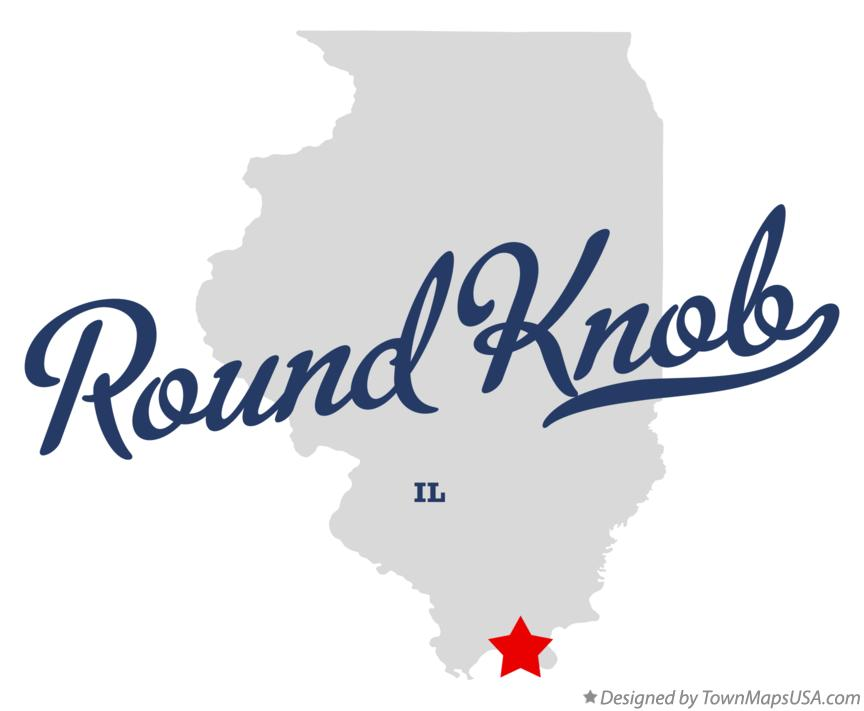 Map of Round Knob Illinois IL