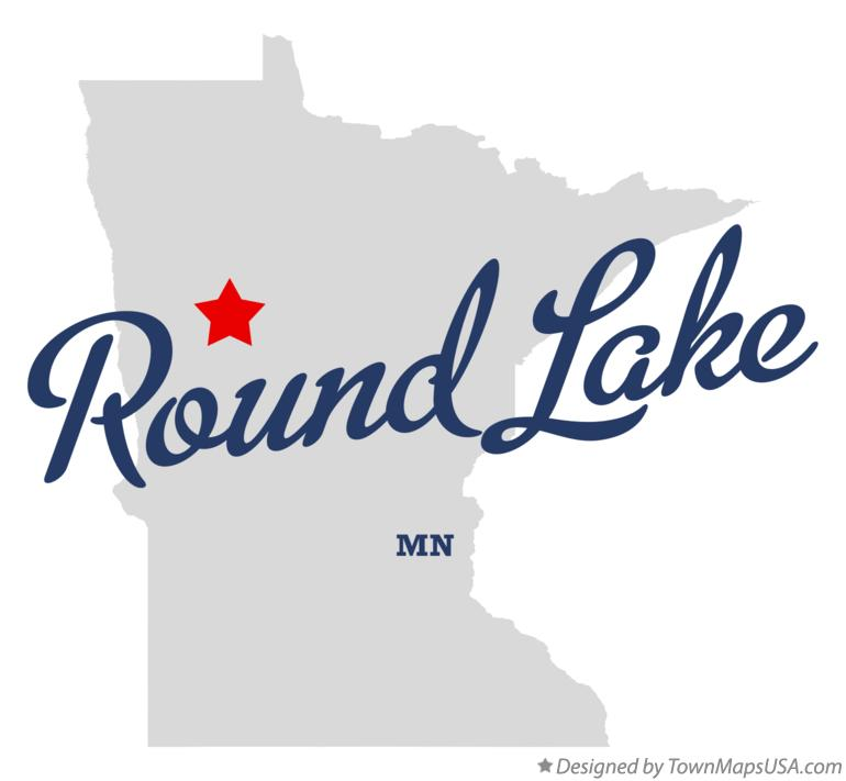 Map of Round Lake Minnesota MN