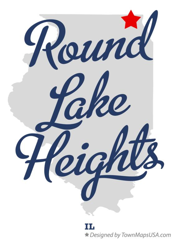 Map of Round Lake Heights Illinois IL