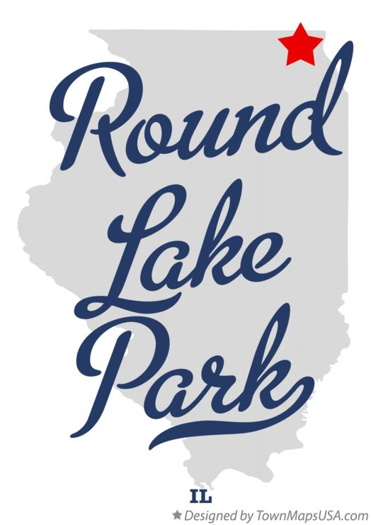 Map of Round Lake Park Illinois IL
