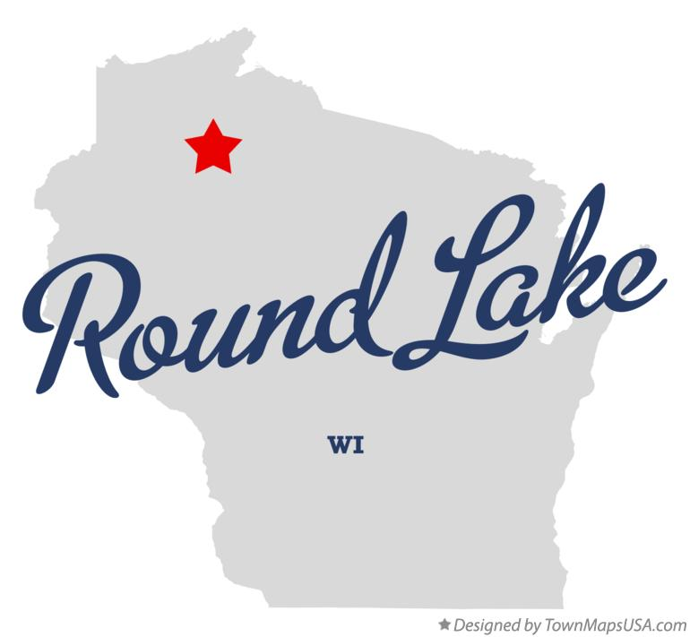Map of Round Lake Wisconsin WI