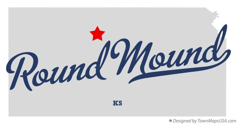 Map of Round Mound Kansas KS