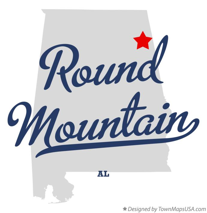 Map of Round Mountain Alabama AL