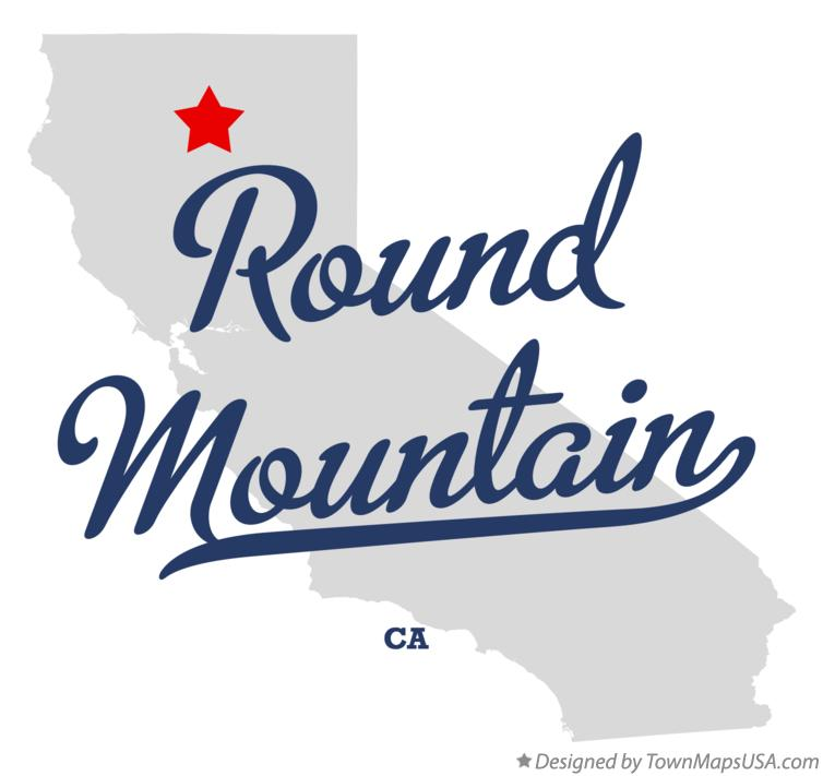 Map of Round Mountain California CA