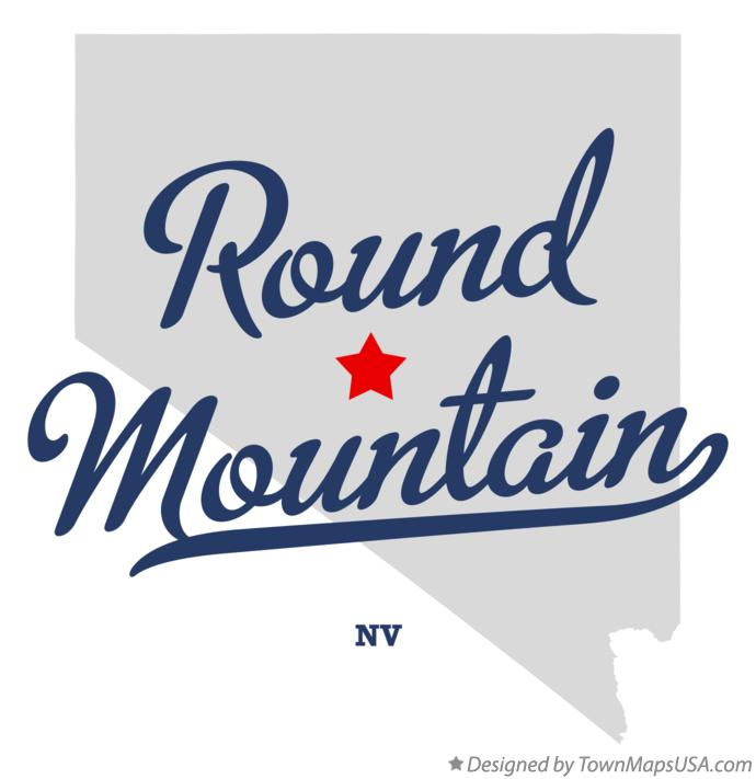 Map of Round Mountain Nevada NV