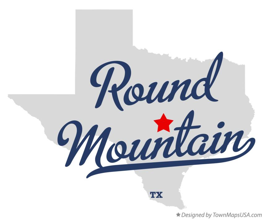 Map of Round Mountain Texas TX