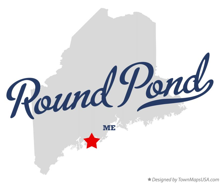 Map of Round Pond Maine ME