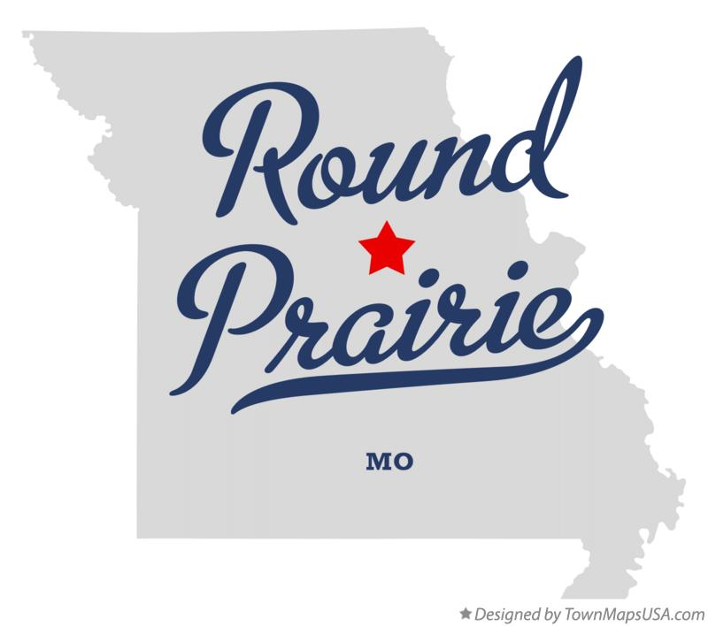 Map of Round Prairie Missouri MO
