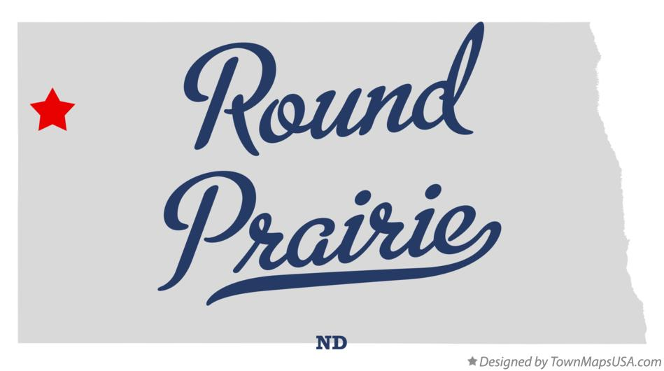 Map of Round Prairie North Dakota ND