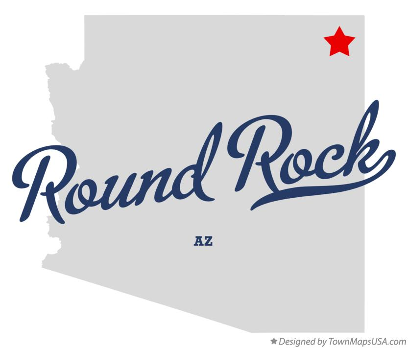 Map of Round Rock Arizona AZ