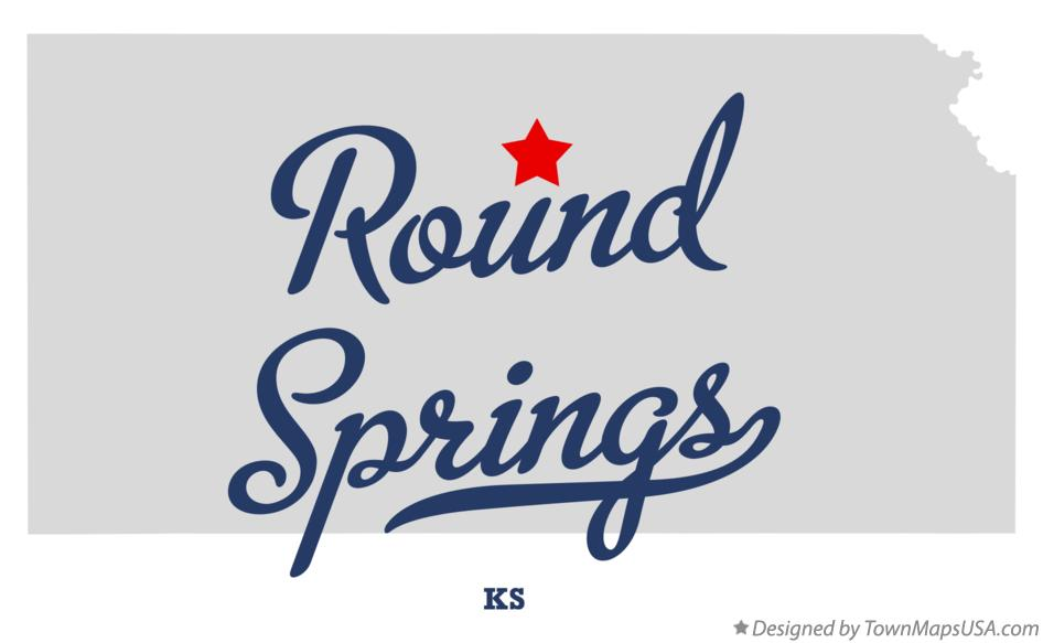 Map of Round Springs Kansas KS
