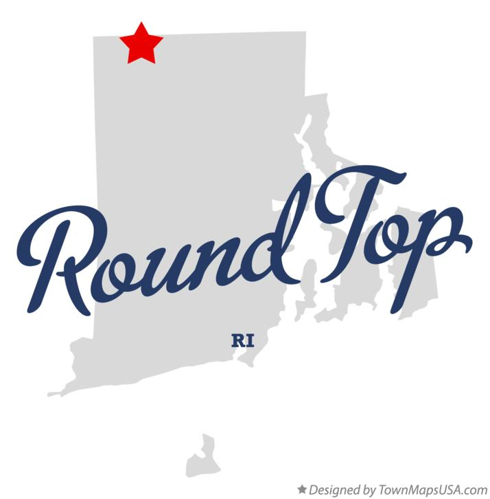 Map of Round Top Rhode Island RI