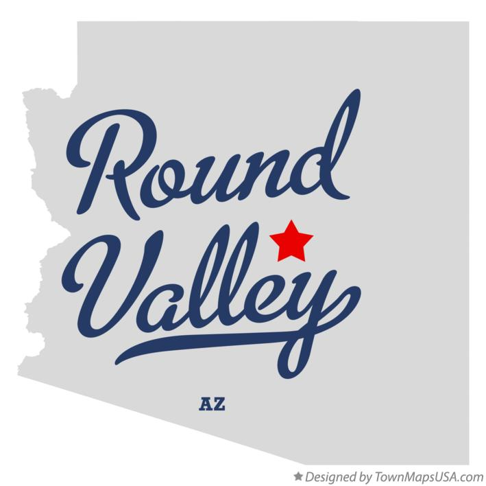 Map of Round Valley Arizona AZ