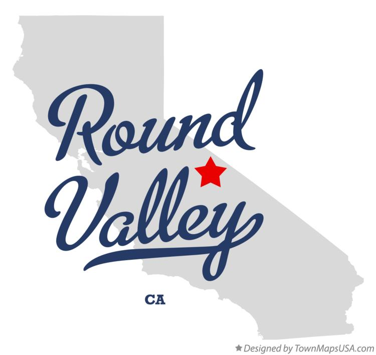 Map of Round Valley California CA