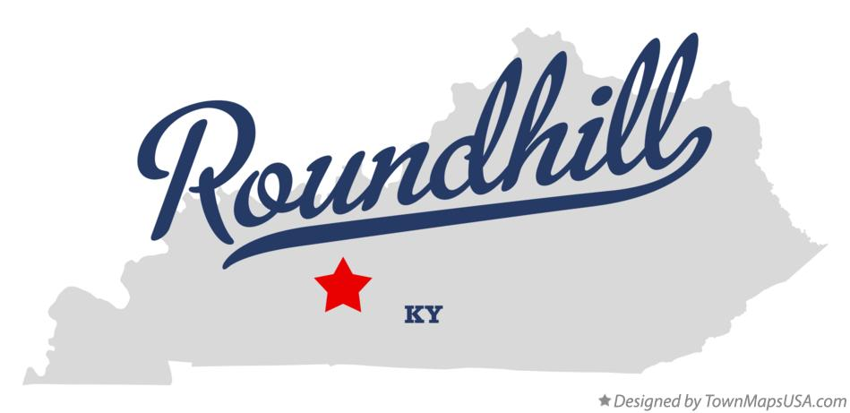 Map of Roundhill Kentucky KY