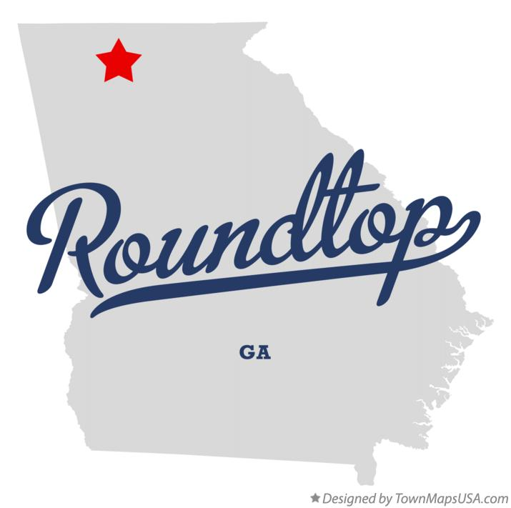 Map of Roundtop Georgia GA