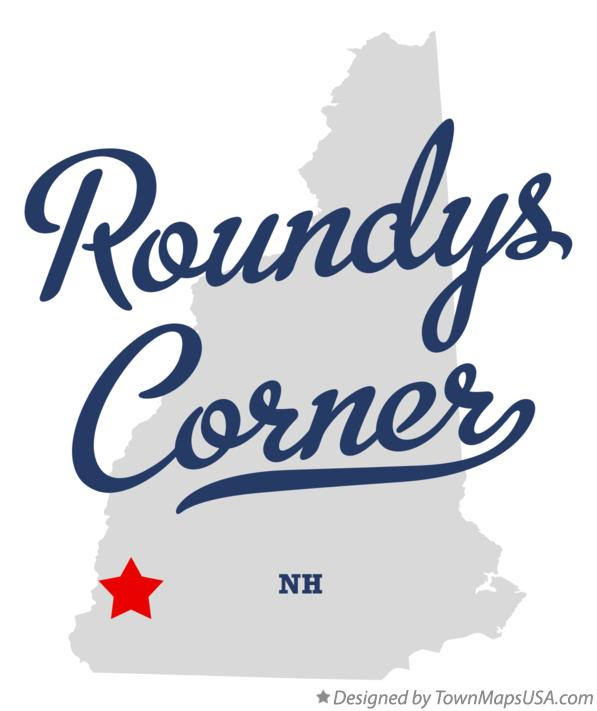 Map of Roundys Corner New Hampshire NH