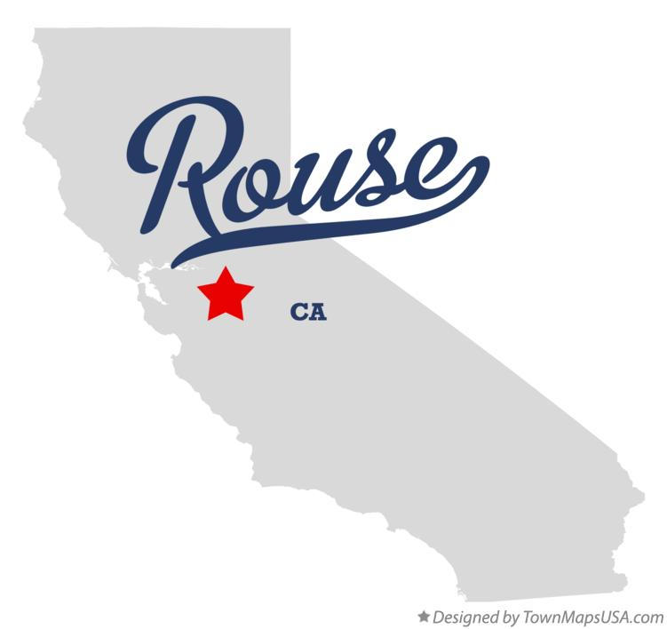 Map of Rouse California CA