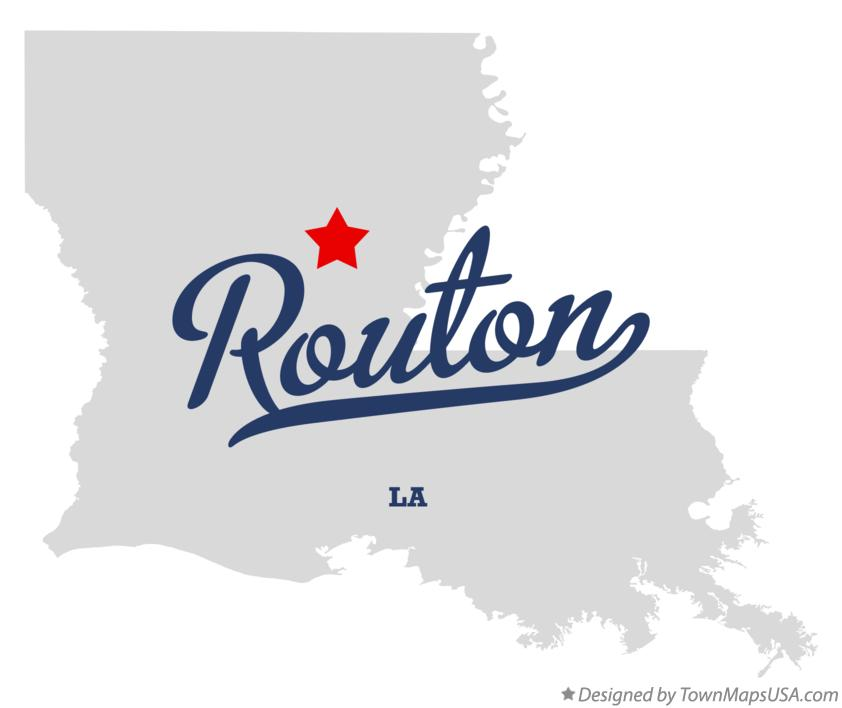 Map of Routon Louisiana LA