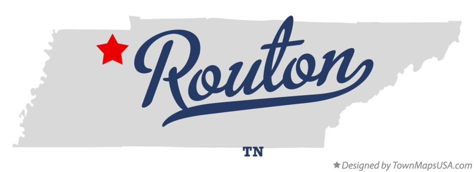 Map of Routon Tennessee TN