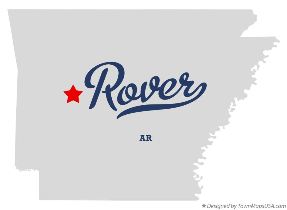 Map of Rover Arkansas AR