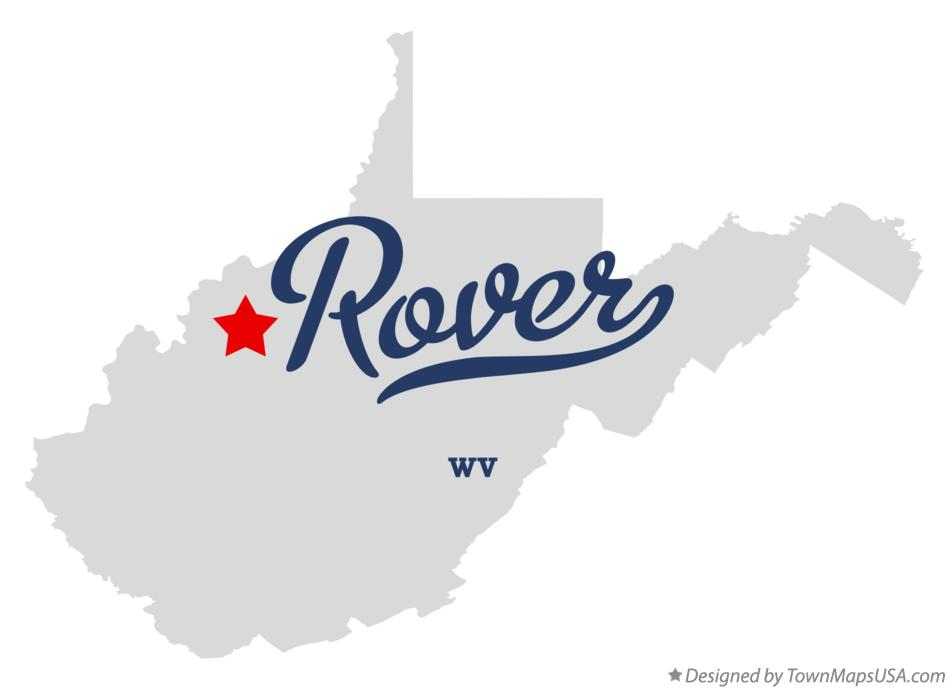 Map of Rover West Virginia WV