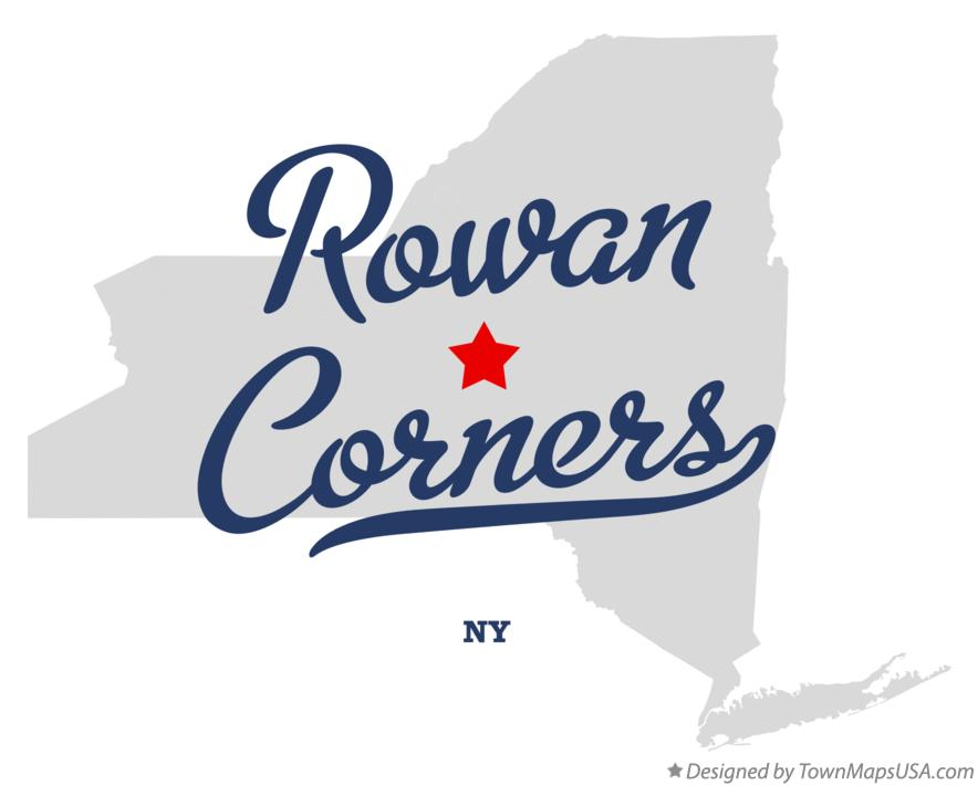 Map of Rowan Corners New York NY
