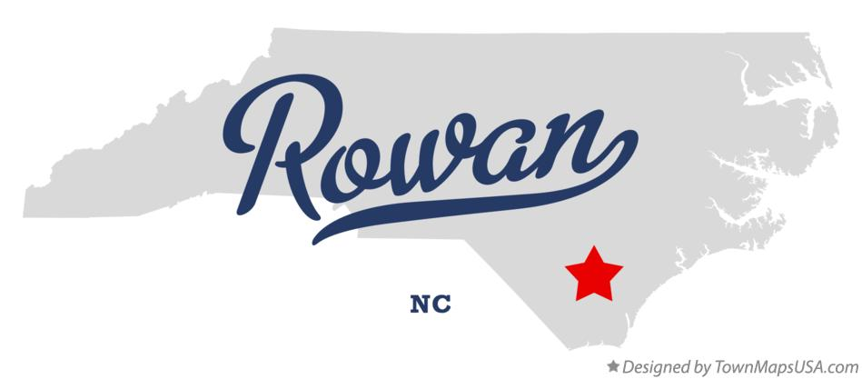 Map of Rowan North Carolina NC
