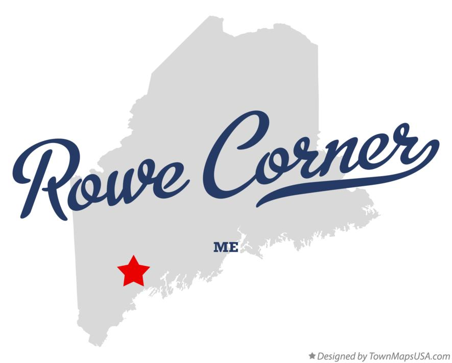 Map of Rowe Corner Maine ME