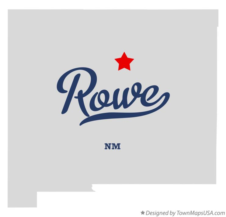 Map of Rowe New Mexico NM