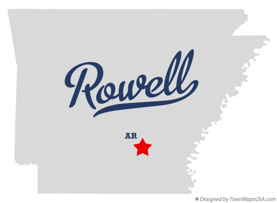 Map of Rowell Arkansas AR