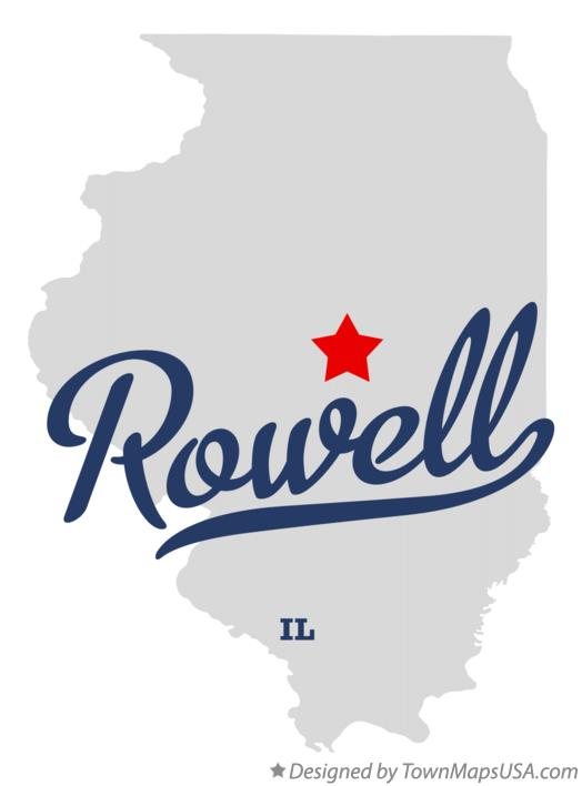 Map of Rowell Illinois IL