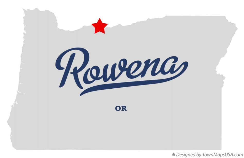 Map of Rowena Oregon OR