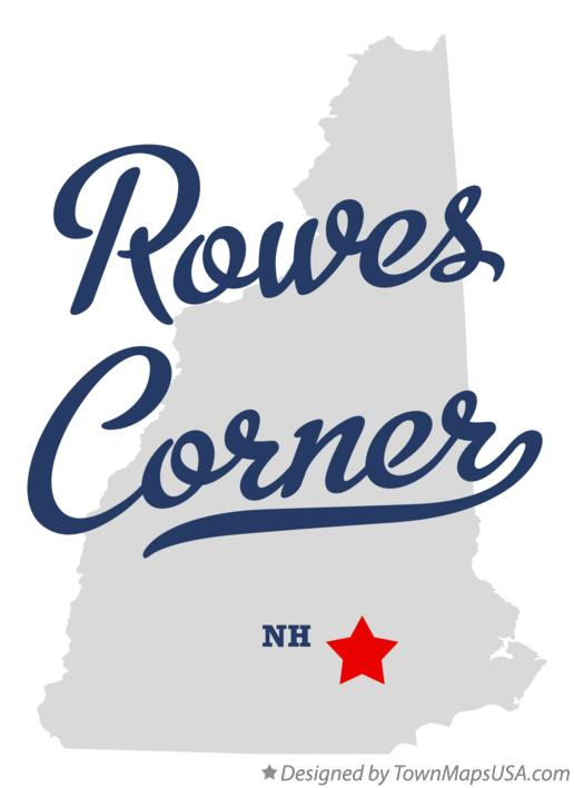 Map of Rowes Corner New Hampshire NH