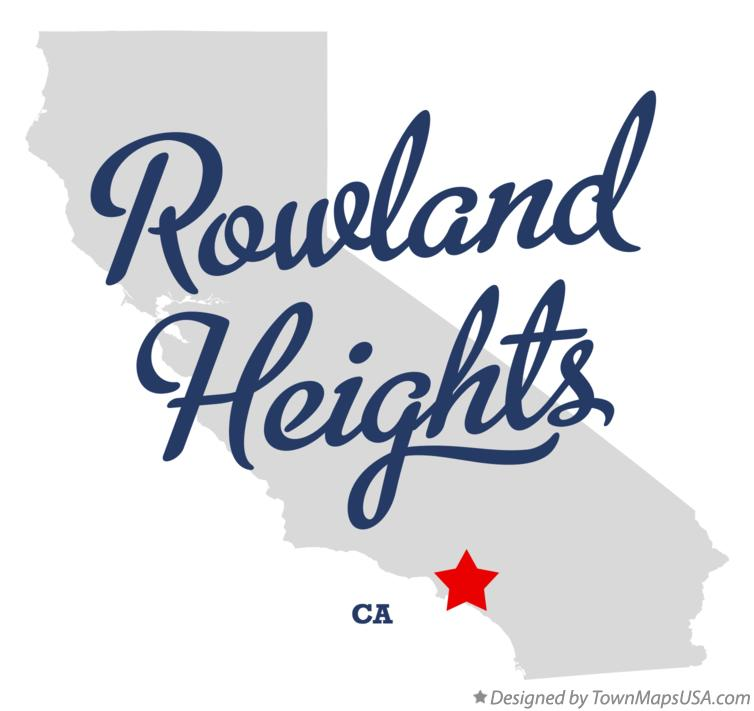 Map Of Rowland Heights Ca California