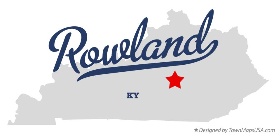 Map of Rowland Kentucky KY