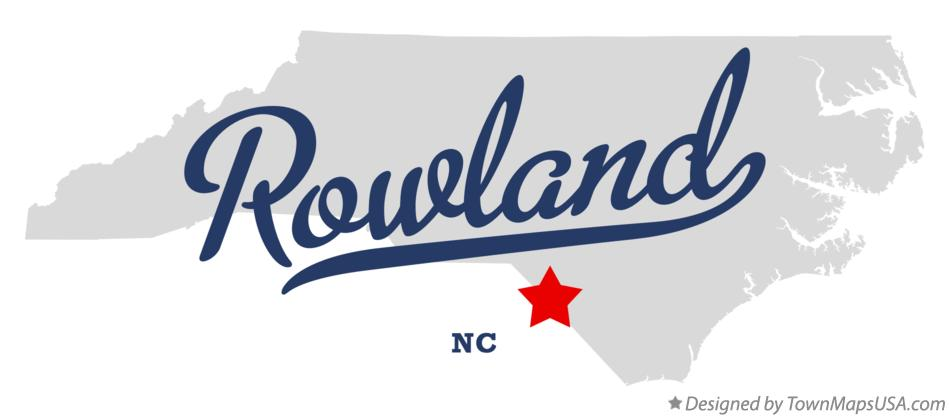 Map of Rowland North Carolina NC