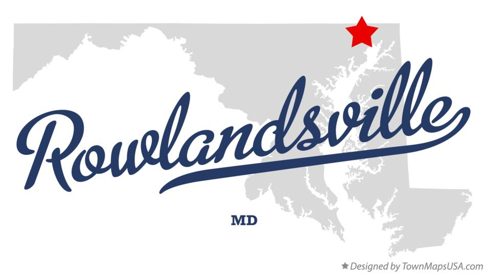 Map of Rowlandsville Maryland MD