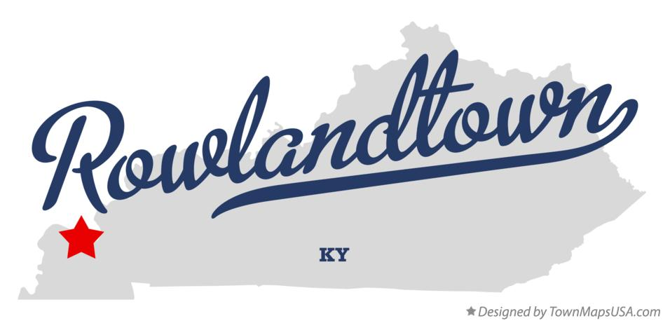 Map of Rowlandtown Kentucky KY