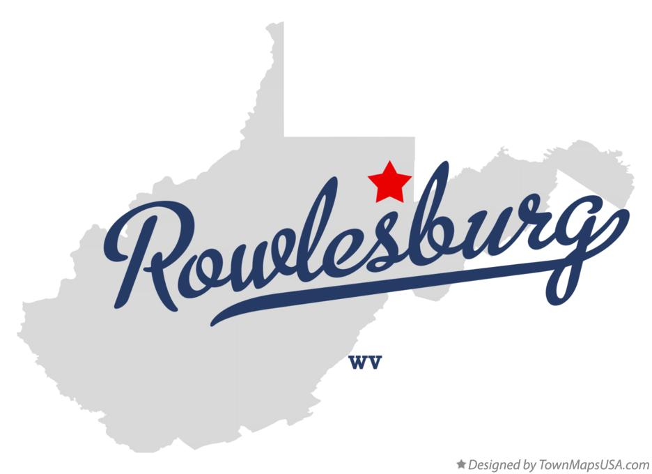 Map of Rowlesburg West Virginia WV