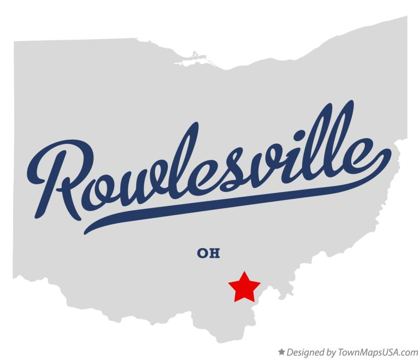 Map of Rowlesville Ohio OH