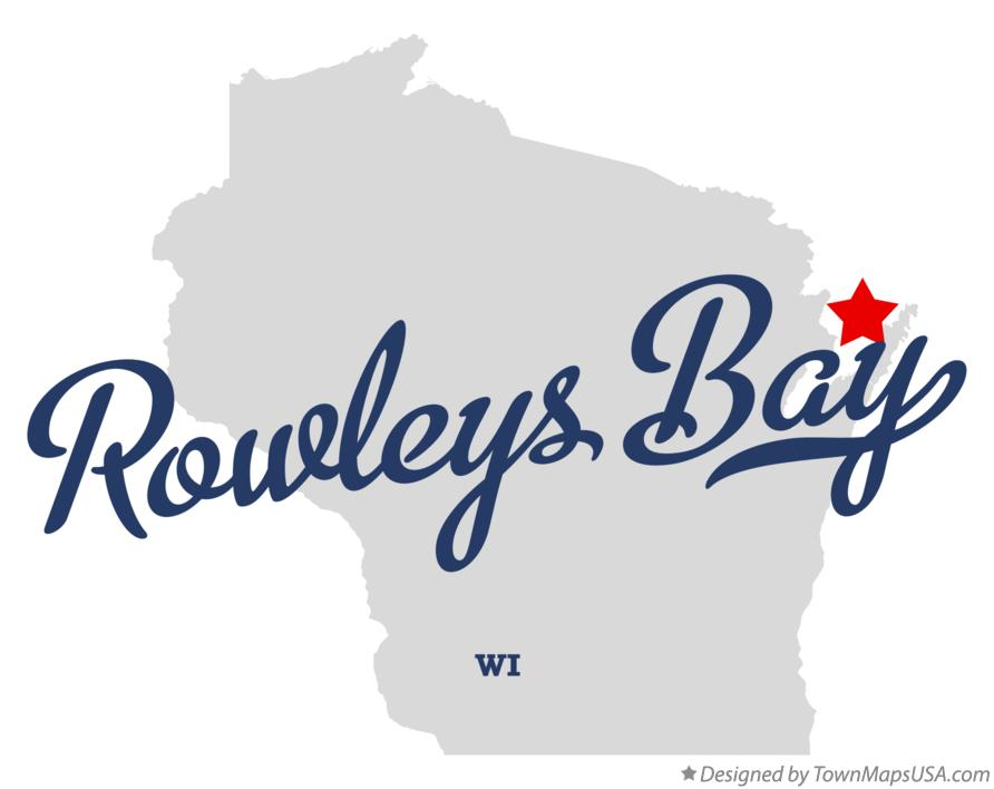 Map of Rowleys Bay Wisconsin WI
