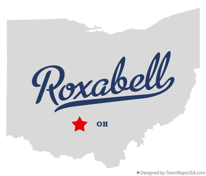 Map of Roxabell Ohio OH