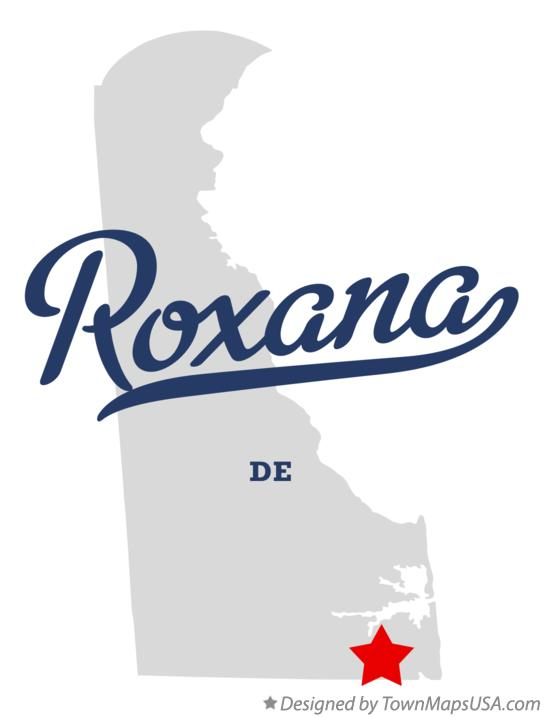 Map of Roxana Delaware DE