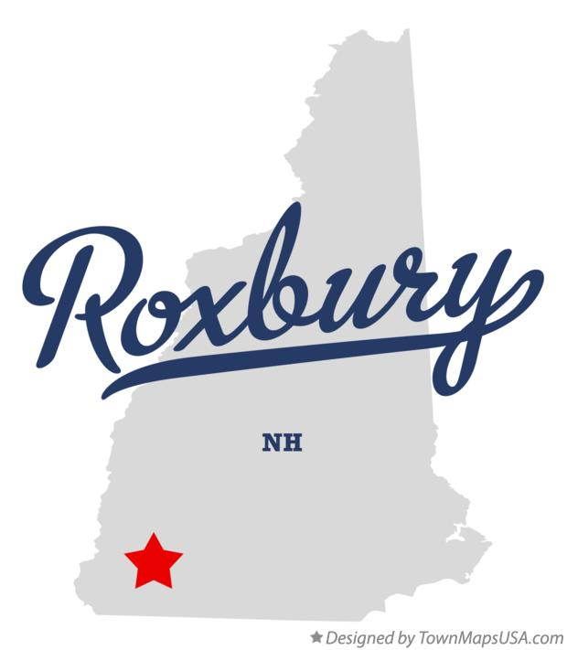 Map of Roxbury New Hampshire NH