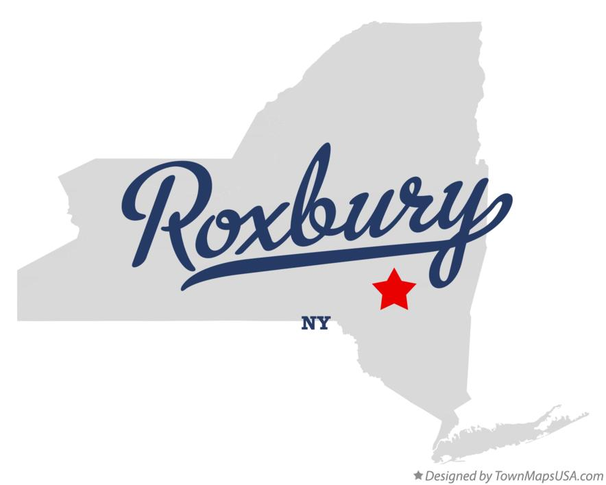 Map of Roxbury New York NY