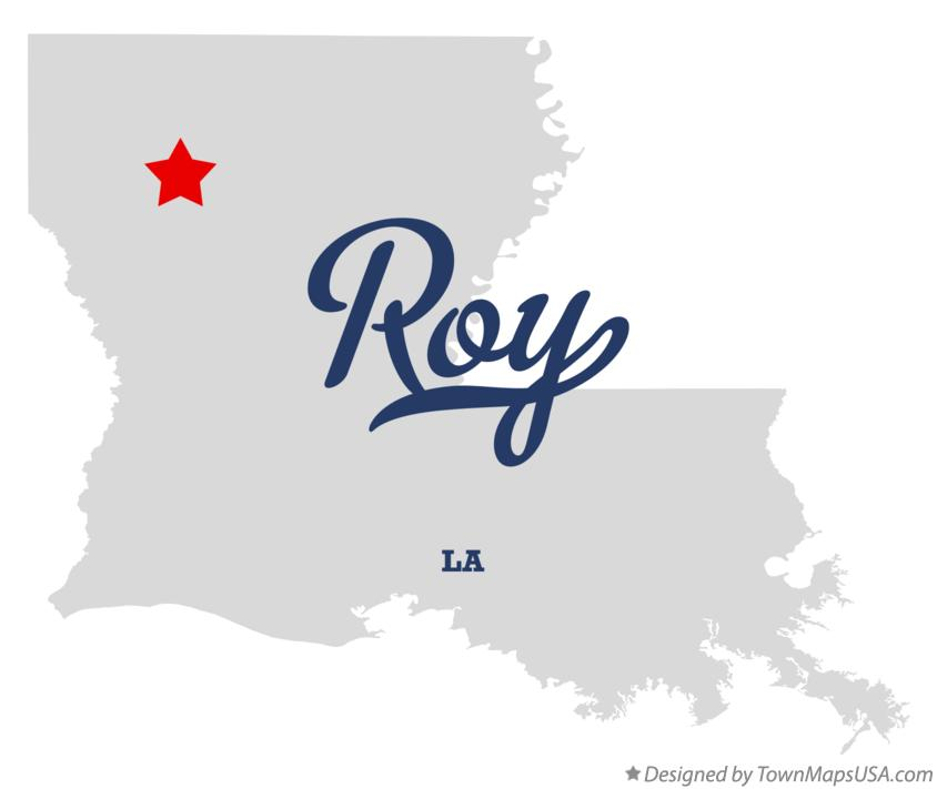 Map of Roy Louisiana LA