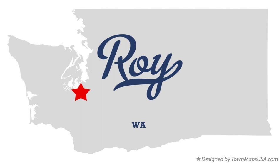 Map of Roy Washington WA